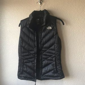 North face black down vest